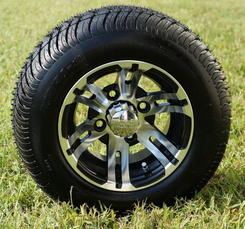 bulldog 10 golf cart wheels and low profile dot golf cart tires combo golf cart tire supply. Black Bedroom Furniture Sets. Home Design Ideas