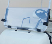 EZGO Marathon Folding Windshield - CLEAR