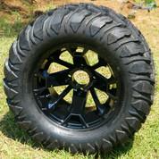 "12"" BLACKJACK Aluminum Wheels and 22x11-12 Crawler All Terrain Tires"