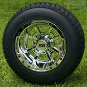"""10"""" STORM TROOPER Chrome Wheels and 205/50-10 Tires"""