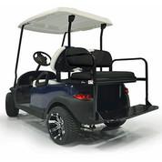 Yamaha Drive (G29) / Drive2 Aluminum Golf Cart Rear Seat Kit - BLACK
