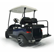 EZGO TXT Mach 2 GTW Aluminum Rear Seat Kit - BLACK