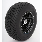 "12"" HD3 Gloss Black Wheels and 23"" DOT Street Tires - Set of 4"