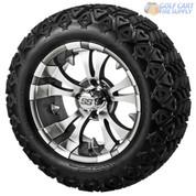 "14"" VAMPIRE Gunmetal Wheels and 23"" All Terrain Tires Combo"