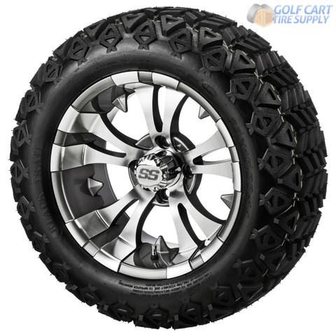 "14"" VAMPIRE Gunmetal Wheels and 23"" All Terrain Tires Combo"