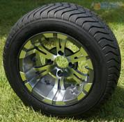 "12"" VAMPIRE Gunmetal Wheels and ComfortRide DOT Tires"