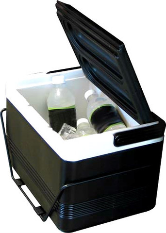 EZ-GO Golf Cart Cooler - 9qt Black Igloo Cooler (Fits Twelve 12oz Cans). This is the mount for Yamaha and Club Car DS carts
