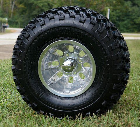 "10"" SILVER BULLET Wheels and 22"" All Terrain Tires Combo"