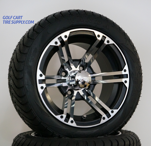 "12"" TERMINATOR Wheels and 215/40-10 DOT Tires combo"