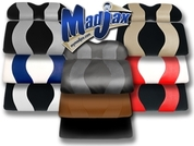 MADJAX Wave Two Tone Rear Seat Covers (Chose Your Colors!)
