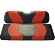 MADJAX Wave Two Tone Front Seat Covers in Black/Red