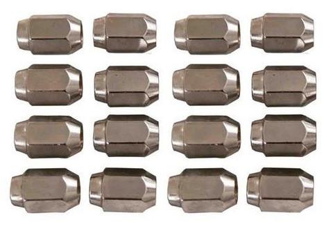 16 Pack of Chrome Metric Threaded Golf Cart Lug Nuts (for Yamaha Golf Carts, 12mm)