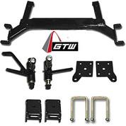 "GTW EZGO TXT 5"" Drop Axle Lift Kit (2001.5-Up Gas & Electric Models)"