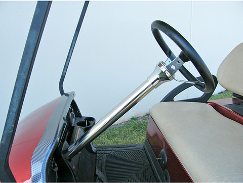 Club Car Precedent Steering Column Cover - Stainless Steel