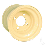 "8"" Steel Golf Cart Wheels - BEIGE"