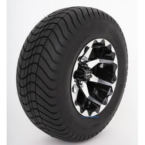 "12"" STI HD6 Machined/ Black Wheels and 23"" DOT Street Tires - Set of 4"