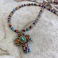 MICHAL GOLAN Medium Mid Night Cross Necklace