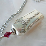 ANGEL BELL NECKLACE Frost Swarovski Crystal 1940 Milady Necklace 8002
