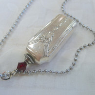 ANGEL BELL NECKLACE Frost Swarovski Crystal 1940 Milady Necklace 8002