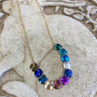 "#1.       In Store Now : 2. $115 Elara Necklace - Niobium, Swarovski Crystal & Sterling Silver  16-18"""" long  Brighter Squares"