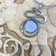 THE ARTIST JAY  Lavender Squiggle Silhouette Necklace
