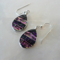 SEA OF GLASS Orchid Earrings