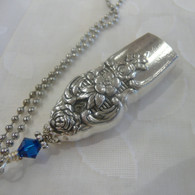 ANGEL BELL NECKLACE Capri Blu Swarovski Crystal 1951 Distinction Necklace 121