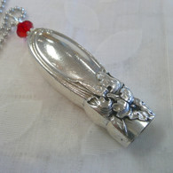 ANGEL BELL NECKLACE  Red Swarovski  1953 White Orchid Necklace 1535