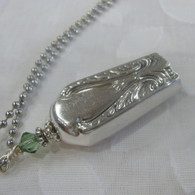ANGEL BELL NECKLACE Light Green Swarovski Crystal 1940 Angel Wings Avalon Necklace 164