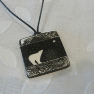 VIRGINIA MISKA CERAMIC JEWELRY Polar Bear Necklace