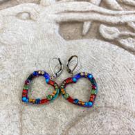 MICHAL GOLAN Multi-Colored Open Heart Earrings
