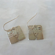 STUART PETERMAN JEWELRY Tree Square Silver Earrings