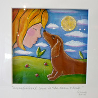 JILL FLINN  Unconditional Love to the Moon and Back (Brown Dog)