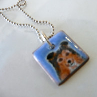 ELVIE ZELL ENAMAL JEWELRY Sheltie Dog Necklace
