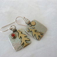 MIXED METAL HARVEST MOON EARRINGS LIGHTWEIGHT HANDCRAFTED IN THE USA