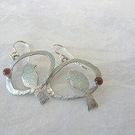 HANDCRAFTED MIXED METAL SONGBIRD EARRINGS HANDMADE IN THE USA