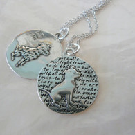 Pitbull Awareness Pendant Sterling Silver - Wonderful Pit Bull Rescue Gift!