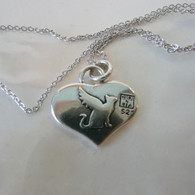 Cat Angel Reversible Silver Pendant Beautiful Memorial Rescue Gift Handmade in the USA