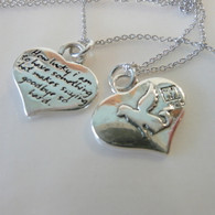 Sterling Silver Dog Angel reversible Necklace Handmade in the USA