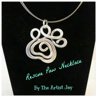 THE ARTIST JAY  Rescue Paw Necklace