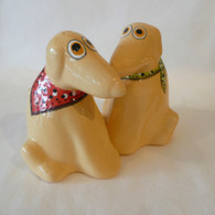 Yellow Lab Rescue Salt & Pepper Set Ceramic Set handmade in the USA