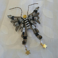 LIZTECH Black Butterfly Angel Pin