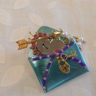 LIZTECH Turqouise Love Letters Pin