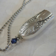 ANGEL BELL NECKLACE  Capri Blu Swarovski Crystal 1939 Radiance Necklace 194
