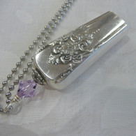ANGEL BELL NECKLACE Lavender Swarovski 1954 Mountain Rose Necklace 1117