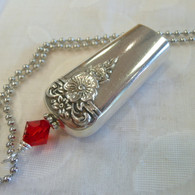 ANGEL BELL NECKLACE Swarovski Red Crystal 1950 Spring Charm Necklace 1721