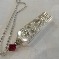 ANGEL BELL NECKLACE  Swarovski Garnet Crystal 1937 Classic Filigree Necklace 2328