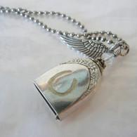 ANGEL PAW FUR-EVER BELL Horse Swarovski Rainbow Crystal Necklace 115