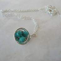 LeDance Robin's Silver Nest Necklace