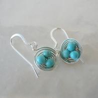 LeDance Robin's Silver Nest Earrings